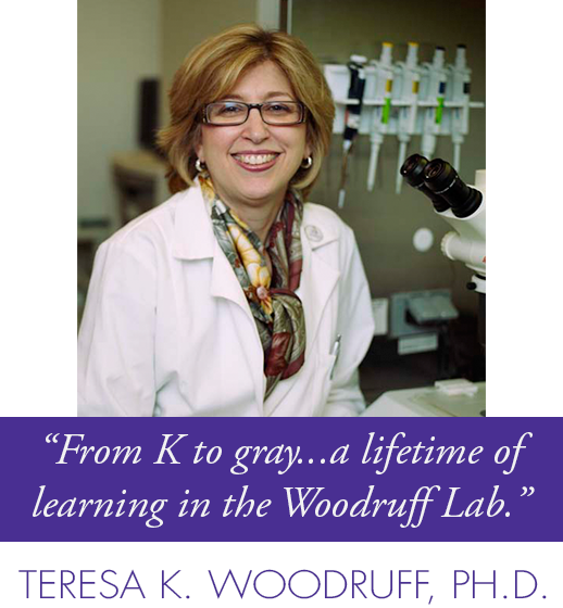 From K to gray...a lifetime of learning in the Woodruff Lab